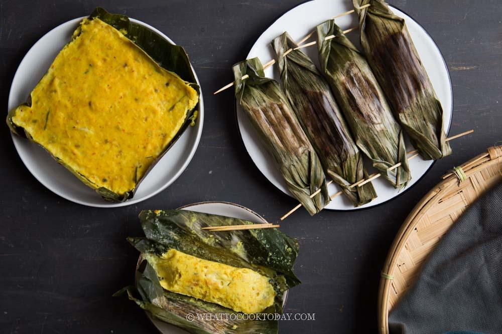 Nyonya Fish Otak Otak (Fish Custard in Banana Leaves)