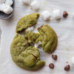 Soft and Chewy Pandan Gula Melaka Marshmallow Cookies