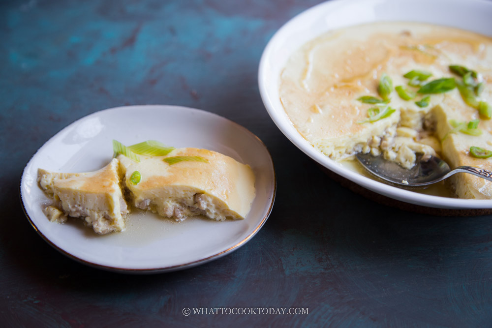 Easy Steamed Egg with Minced Pork