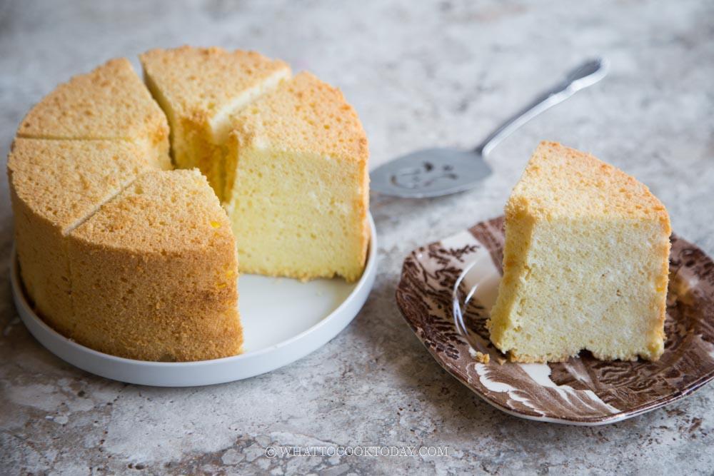 Soft and Fluffy Tofu Chiffon Cake