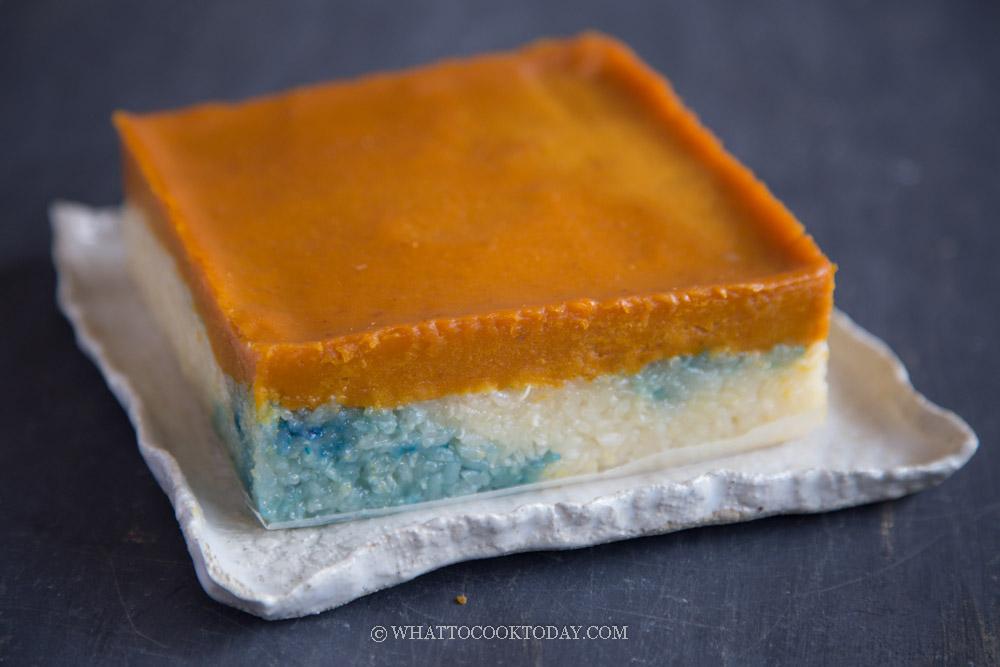 Pumpkin Kuih Serimuka / Kueh Salat (Eggless Recipe)
