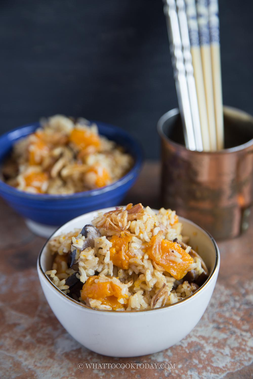 Chinese Pumpkin Rice (Instant Pot or Rice Cooker)