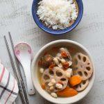 Cantonese Lotus Root Peanut and Pork Ribs Soup (Leng Ngau Tong)